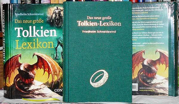 Das neue große Tolkien-Lexikon – 2. Auflage, erschienen am 10.10.2018, hier neben der ersten Auflage von 2016
